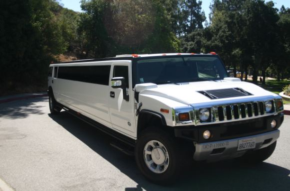 White Hummer H2 Limo Up To 22 Passengers La Party Bus Limos